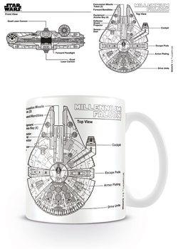Gwiezdne wojny - Millennium Falcon Sketch Kubek