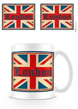 Londyn - Vintage Union Jack Kubek