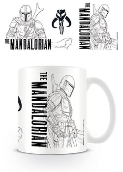 Star Wars: The Mandalorian - Line Art Kubek