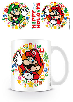 Super Mario Bros - Happy Holidays Kubek