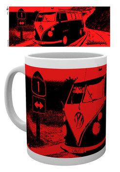 VW Camper - California Red Kubek