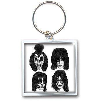 Kiss - Graphite Faces kulcsatartó