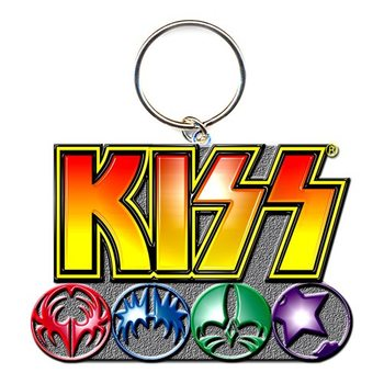Kiss - Logo & Icons kulcsatartó