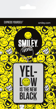 Smiley - Yellow is the New Black kulcsatartó