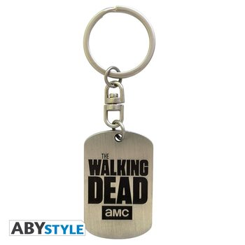 The Walking Dead - Dog tag logo kulcsatartó