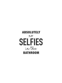 Illustrasjon Absolutely no selfies