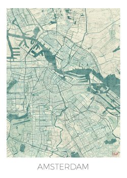 Kart over Amsterdam
