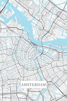 Kart over Amsterdam white