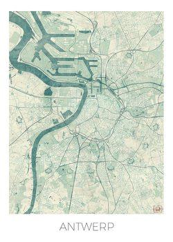 Kart over Antwerp