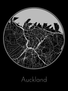 Kart over Auckland