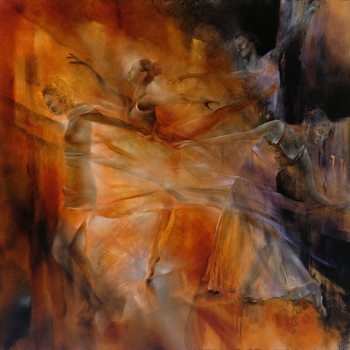 Illustrasjon Balance: four dancers