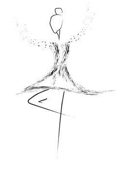 Illustrasjon Balerina