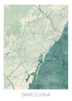 Kart over Barcelona