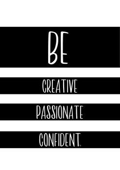 Illustrasjon Be Creative
