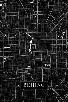 Kart over Beijing back