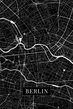 Kart over Berlin black