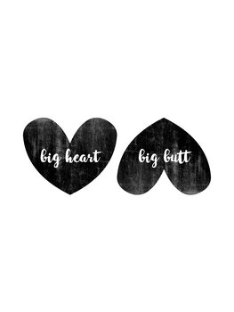 Illustrasjon Big Heart Big Butt