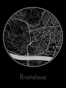 Kart over Bratislava