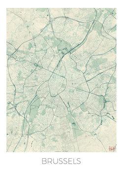 Kart over Brussels