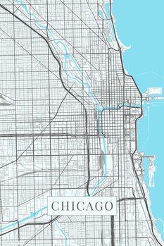 Kart over Chicago white