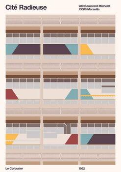 Cité Radieuse Kunsttrykk