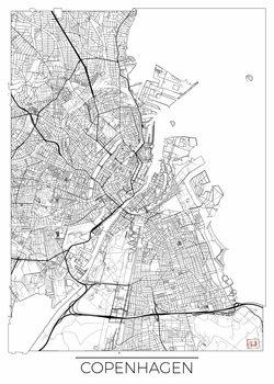 Kart over Copenhagen