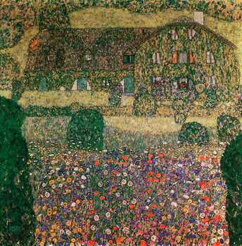 Country House by the Attersee, c.1914 Kunsttrykk