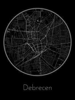 Kart over Debrecen