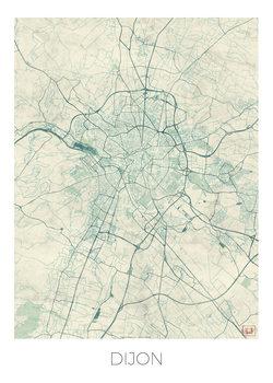 Kart over Dijon