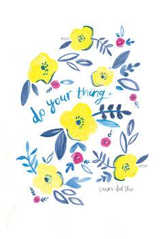 Illustrasjon Do your thing floral
