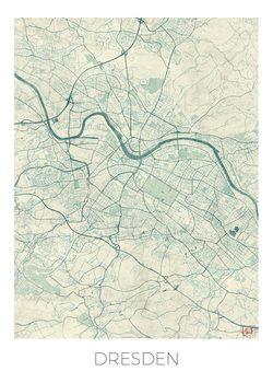 Kart over Dresden