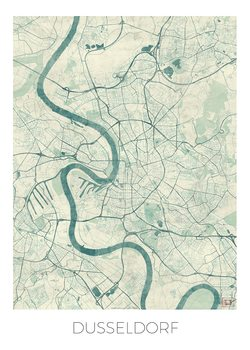 Kart over Dusseldorf