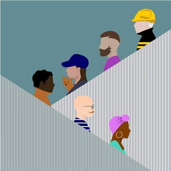 Escalator People Kunsttrykk