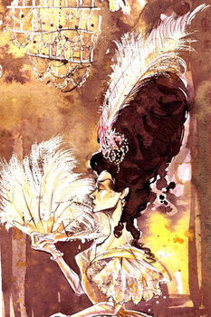 Eugene Onegin - illustration of the character Tatyana from the opera by Pyotr Ilyich Tchaikovsky Kunsttrykk