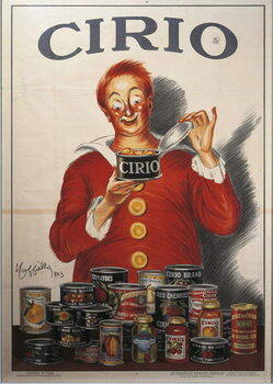 Advertisement for Cirio food preserve, by Leonetto Cappiello , illustration, 1923 Kunsttrykk