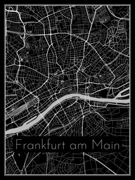 Kart over Frankfurt am Main