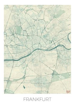 Kart over Frankfurt
