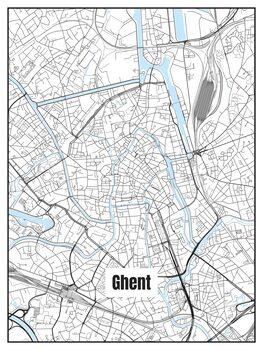 Kart over Ghent