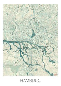 Kart over Hamburg