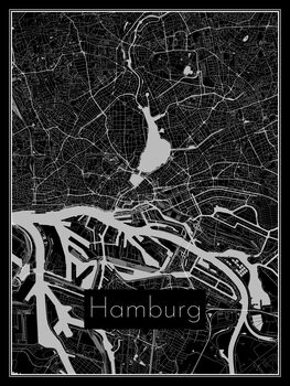 Kart over Hamburg