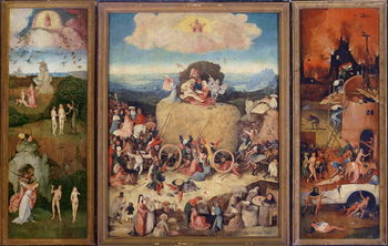 Haywain, 1515 (oil on panel) Kunsttrykk