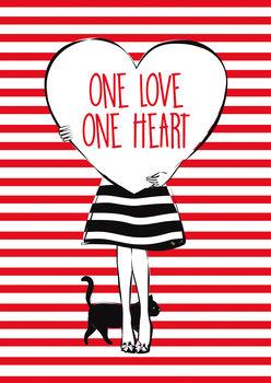 Illustrasjon Heart Girl