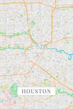 Kart over Houston color