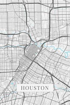 Kart over Houston white
