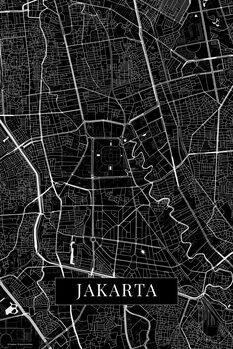 Kart over Jakarta black