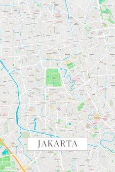 Kart over Jakarta color