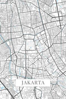Kart over Jakarta white