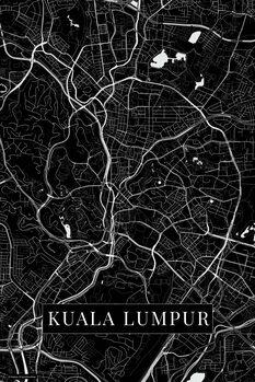 Kart over Kuala Lumpur black