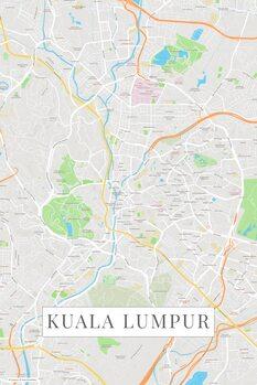 Kart over Kuala Lumpur color