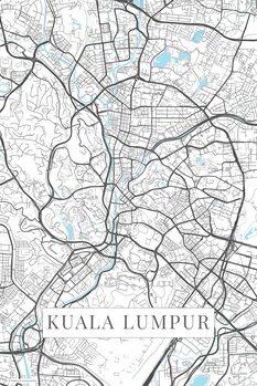 Kart over Kuala Lumpur white